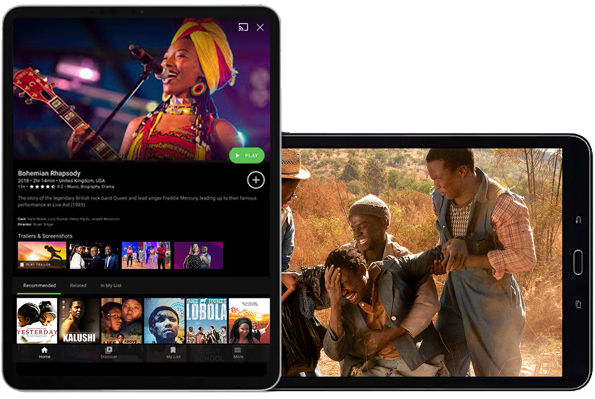 MyUnitedTV - Watch the best African TV channels on Roku,AndroidTV,IOS or Amazon fireTV Live! image-mobile-left Compatible Devices